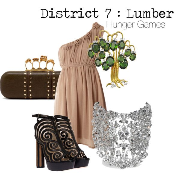 THE HUNGER GAMES District 7 outfit
