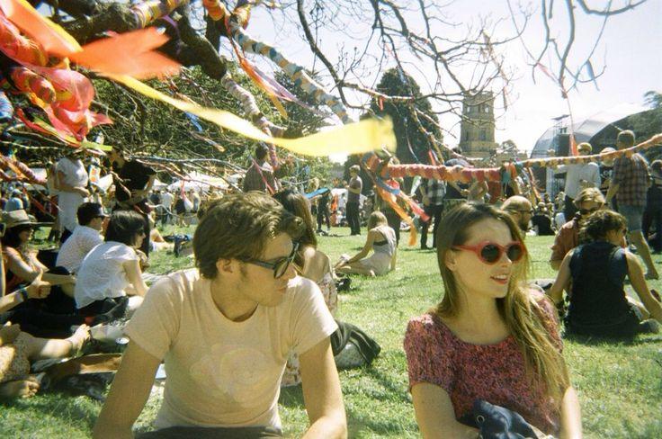 Werribee Mansion, Harvest Festival, Melbourne. 35mm Film.