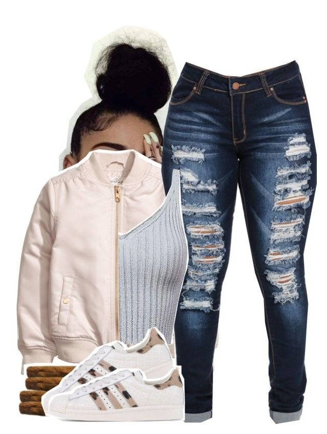 """I Wish I Didn't Have a Heart"" by queen-tiller ❤ liked on Polyvore featuring adidas Originals"