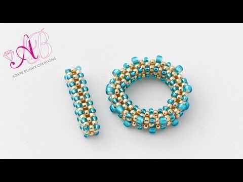 DIY Tutorial Chiusura T-BAR perline in cubic raw - YouTube