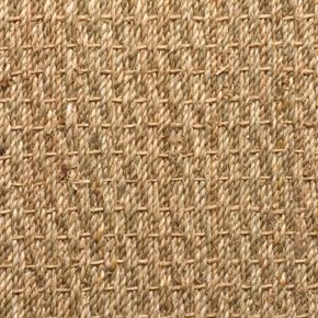 Seagrass rug with natural border