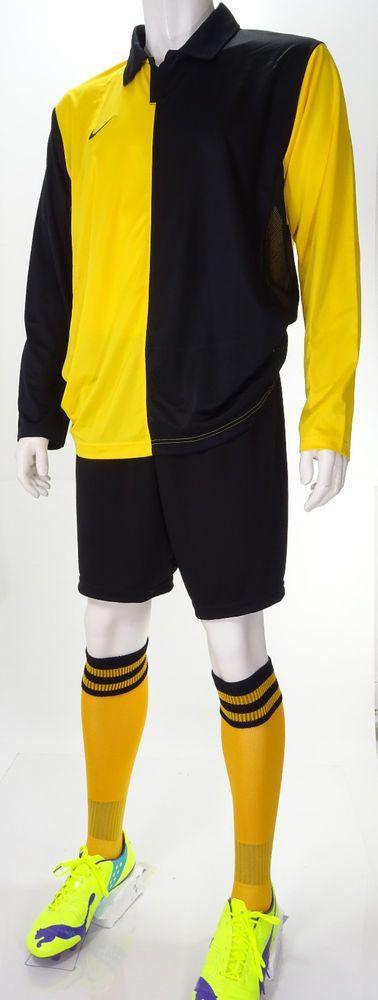 15 x Nike Mens Football Team Kits Black & Gold (Yellow) Halves (XL) #Nike