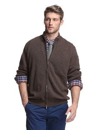 Oxxford Men's Zip-Up Cardigan