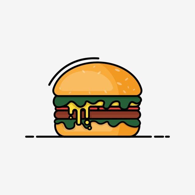 Burger Vector Icon Burger Illustration Food Png And Vector With Transparent Background For Free Download Objek Gambar Inspirasi Desain Grafis Ilustrasi