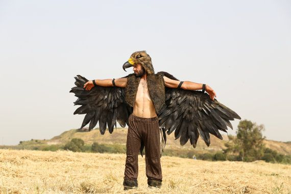 steppe Eagle costume / artificial handmade wings