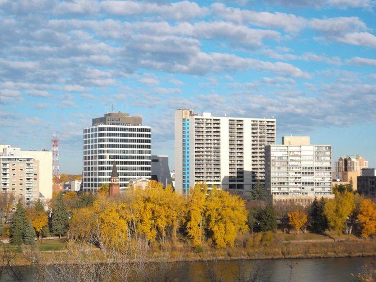 A fall view of downtown Saskatoon