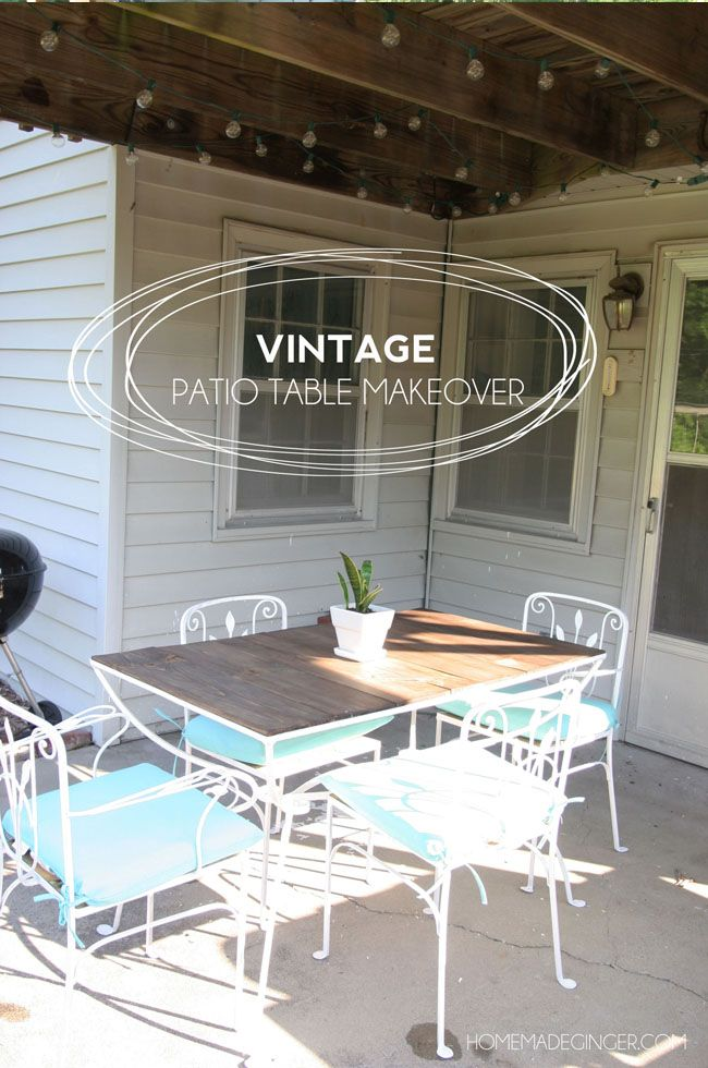 A vintage patio table makeover! Transform a wrought iron vintage patio table using a little tlc!