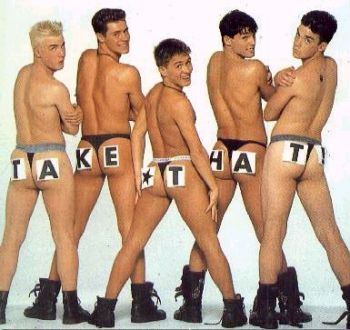Take That have been Britain's cheekiest boy band since the early 1990s.