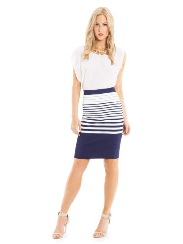 GUESS by Marciano Cruise Bandage Skirt, MULTICOLORED (XS) coupon| gamesinfomation.com