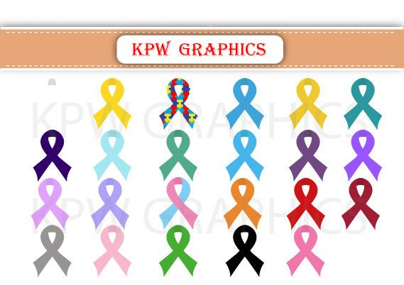 Awareness Ribbons  PNG Personal & Small Commercial by KPWgraphics