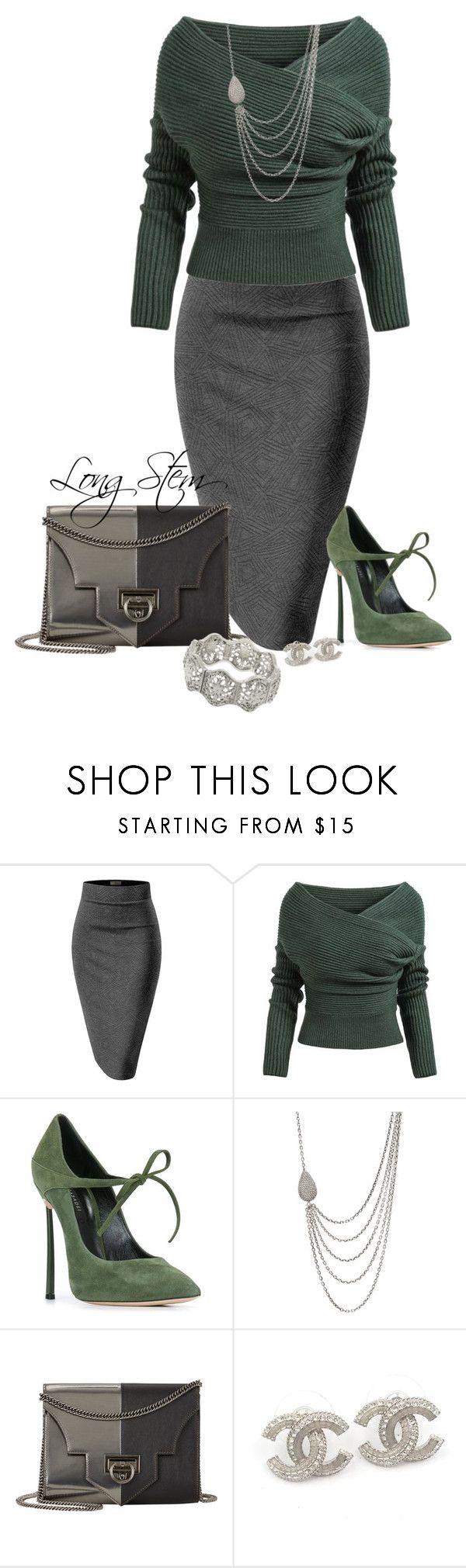 """2/18/17"" by longstem ❤ liked on Polyvore featuring Whit, Casadei, Irit Design, Reece Hudson, Chanel and 1928"