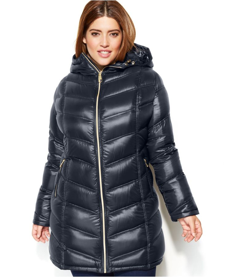 Quilted Puffer Coat Plus Size