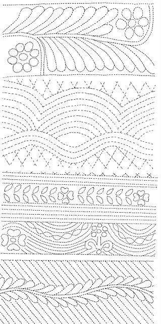 Quilting design Kim Williams via Jackie Dove onto Quilts