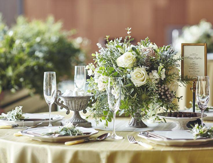#james-tei#novarese#vressetrose#wedding #white #banqet #natural#flower #bridal#guesttable#ジェームス邸#ノバレーゼ# ブレスエットロゼ #ウエディング# ホワイト#グリーン#バンケット# ゲストテーブル# ナチュラル#スタイリッシュ# ブライダル#結婚式#ブレスエットロゼ神戸#バラ#ユーカリ#マツボックリ