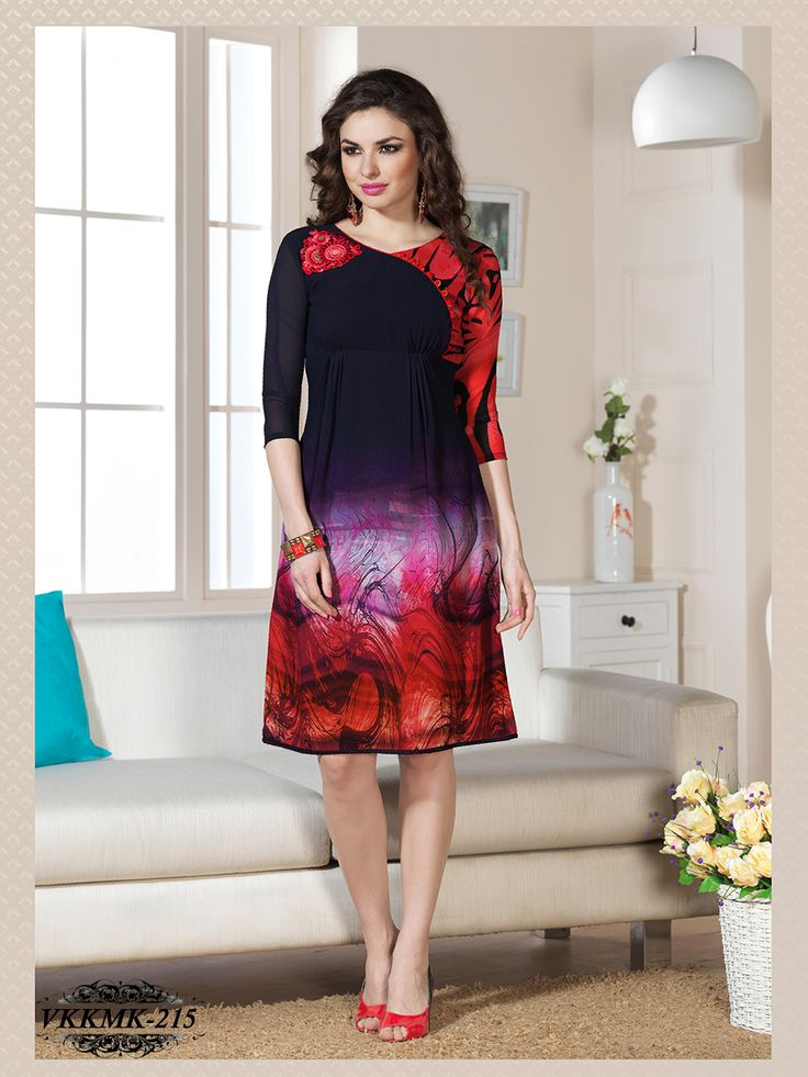 Look like a dream wearing different colours of kurtis. Classy and stylish look in this piece and revel the comfort of the soft cotton fabric. Pair it with matching leggings and sandals to get flattered for your elegant choice.  SIZE LARGE : 40