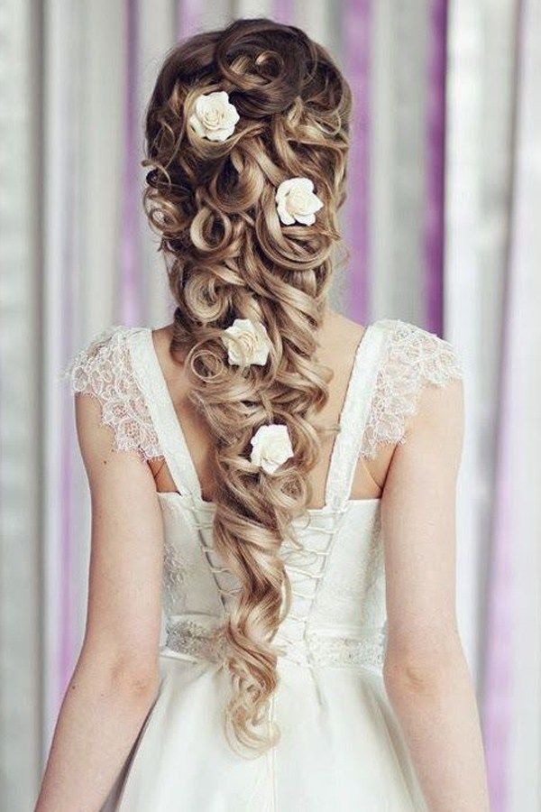 Beautiful hairstyle for wedding