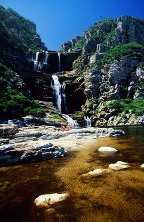 With dazzling waterfalls, it's not hard to find a place to cool off from a hike in South Africa.