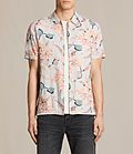 ALLSAINTS US: Mens Pipeline Short Sleeve Shirt (Light Grey)