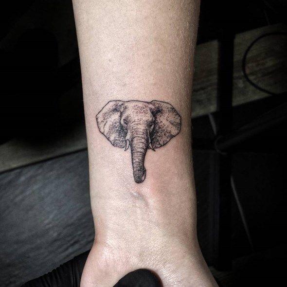small elephant head tattoo