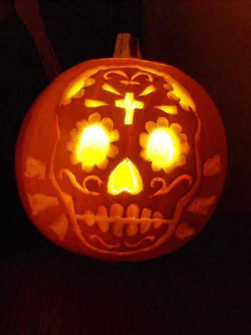 30 Skull Pumpkin Carving Ideas