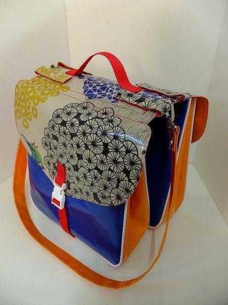 sacoche double pour vélo tissus japonais ( Nouvelle collection) : Sacs bandoulière par aggiebaggie