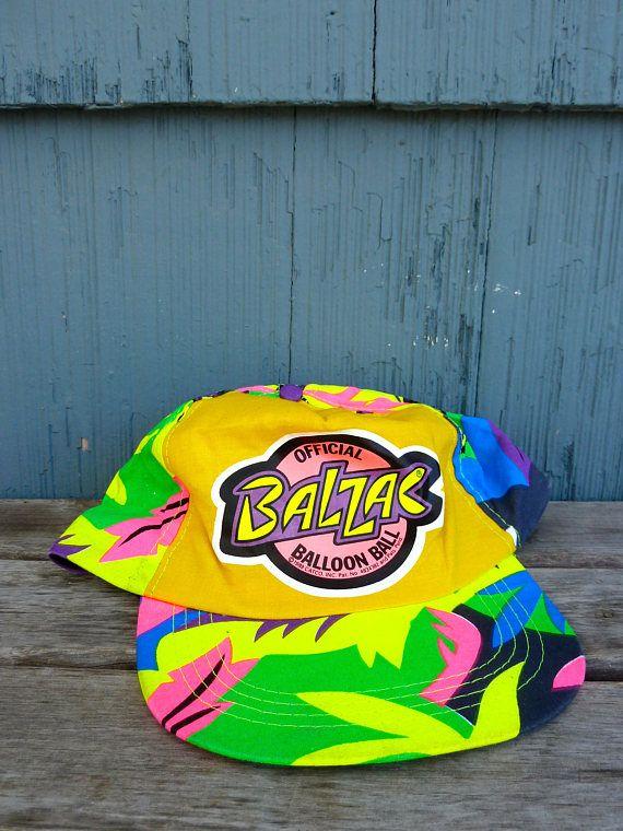 Official Balzac Balloon Ball baseball hat neon jungle