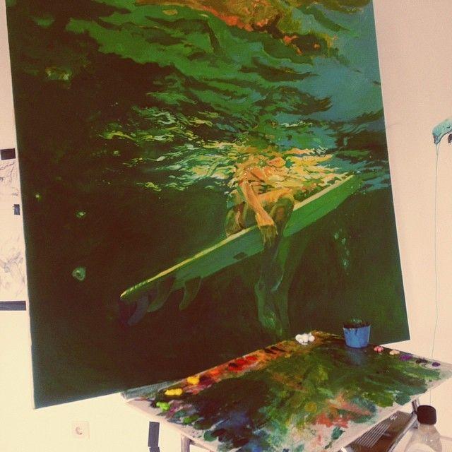 surf art, canvas 100x100cm   #surfart