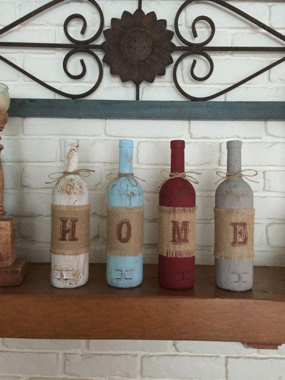 best 25 painted wine bottles ideas on pinterest. Black Bedroom Furniture Sets. Home Design Ideas