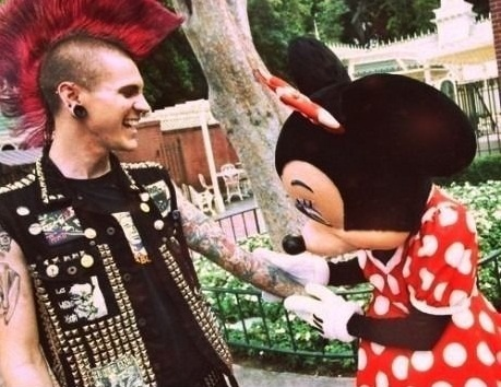 Minnie Mouse and the punk
