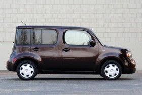 My beloved Betty Lou.  2009 Nissan Cube S. Recovered intact!