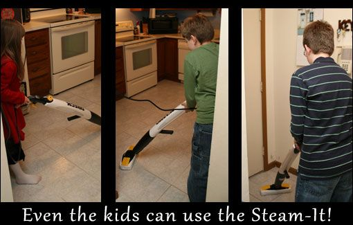 Even the kids will love using the Steam-It!