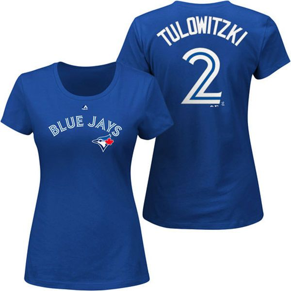 Troy Tulowitzki Toronto Blue Jays Majestic Women's Plus Size Name & Number T-Shirt - Royal - $31.99