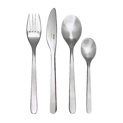 Buy replacement cutlery -- the cutlery elves have been at work over the last few years. Also buy these in the shipment: http://www.ikea.com/au/en/catalog/products/20191862/