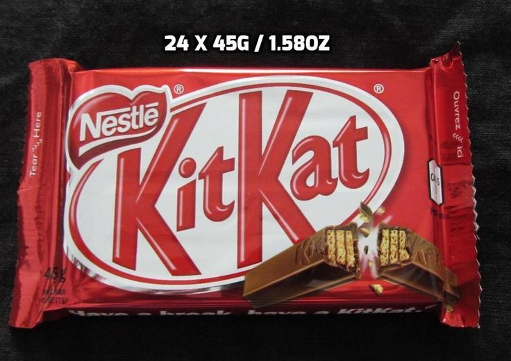 24 x 45g / 1.58 oz Kitkat Guarantee Fresh Made in CANADA Free Shipping To USA #Kraft