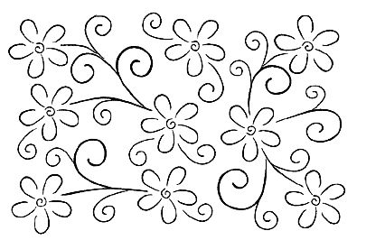 Swirls & Blossoms Background [J88] - $13.75 : Of The Heart, Rubber ...