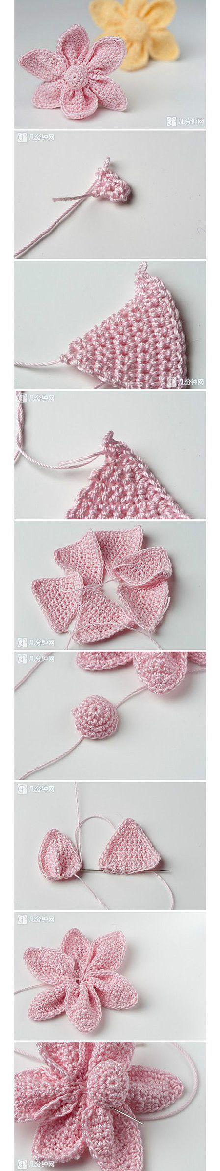 DIY Crochet Flower !  See more : https://www.youtube.com/channel/UC2iZiJnsFuIU7L5-8-ULlvA
