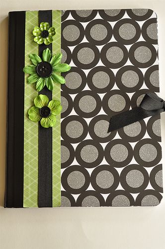 Cute notebook made with scrapbook paper and decorative duct tape! Isn't it fun??? #craft, #scrapbook