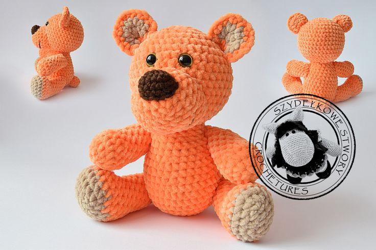 Agnieszka Mężyk, Szydełkowe Stwory, miś www.polandhandmade.pl #polandhandmade #crochet #amigurumi