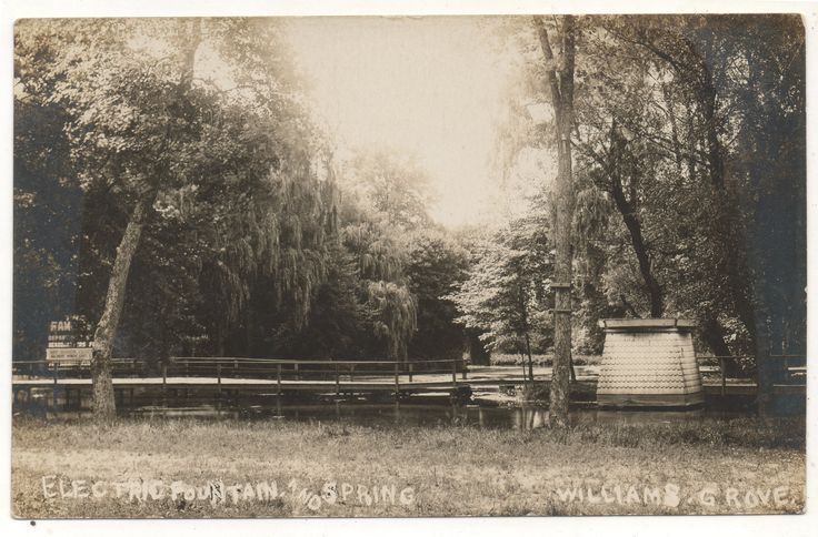 Electric Fountain and Spring at Williams Grove park near