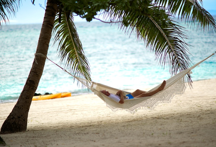 Relax in your hammock at Vatulele in Fiji