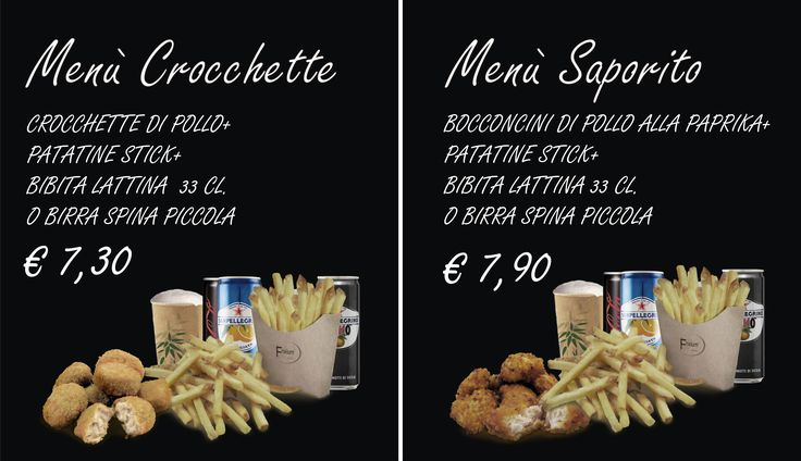 Menù Crocchette e Menù Saporito .. vieni a trovarci da Frixium Italia a Firenze