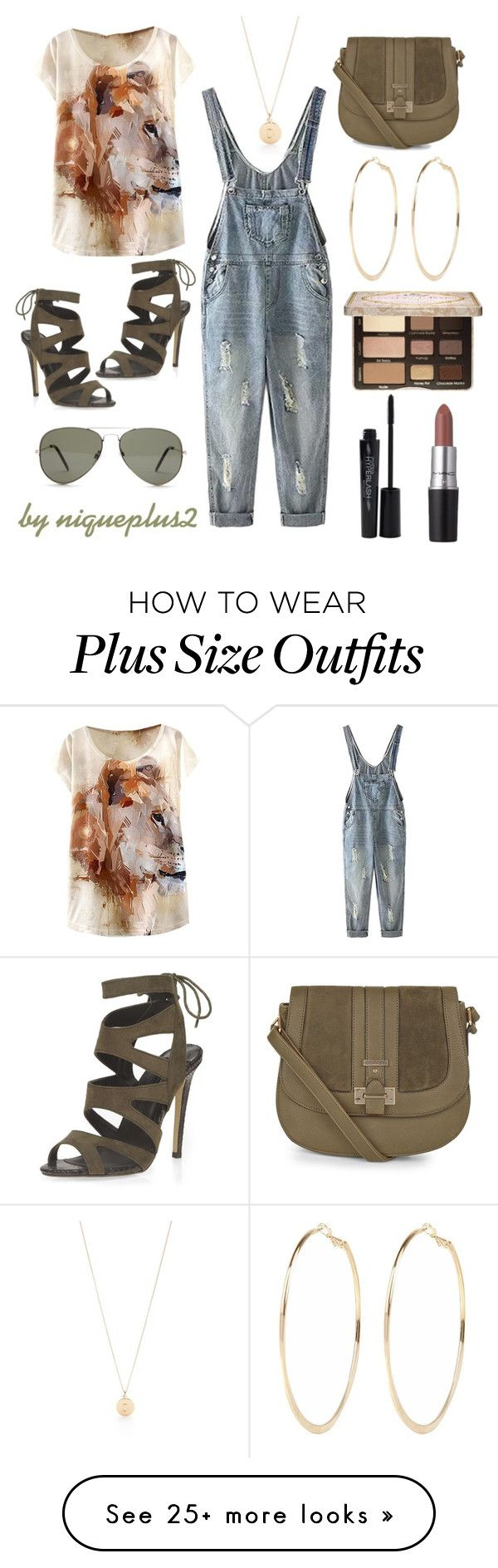 """""""+Look (Plus Size Look): Overalls"""" by niqueplus on Polyvore featuring moda, Kate Spade, WithChic, Dorothy Perkins, Forever 21, River Island, Too Faced Cosmetics, Smashbox, M.A.C e women's clothing"""