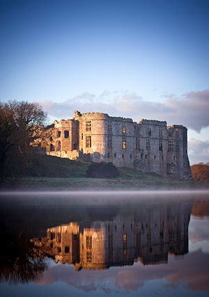 Carew Castle, Pembrokeshire, UK.This castle is in part of my ancestry. I own a castle! at least i did until it was taken out from under us before there were last names