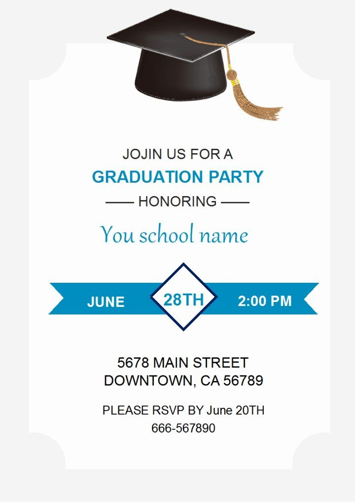 Graduation Invitation Templates Free Download Lovely Wps Template Free Do Graduation Card Templates Graduation Invitations Template Graduation Invitation Cards