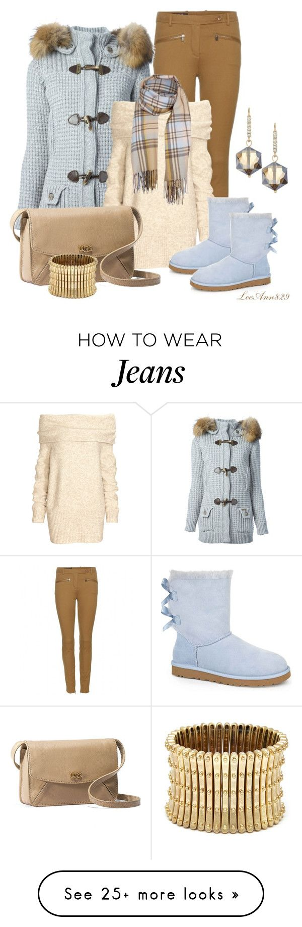 """contest"" by leeann829 on Polyvore featuring Loro Piana, Bark, H&M, UGG Australia, Madison Parker and Sole Society"