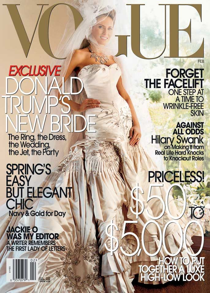 Melania Trump in the cover of Vogue magazine in 2005.