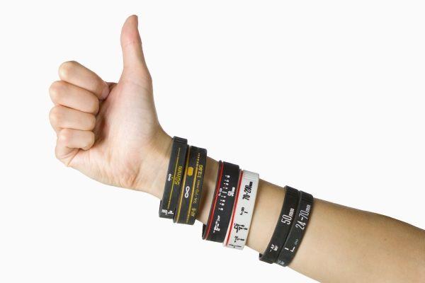 The Lens Bracelet - Wear your camera love on your sleeve. ($15.00, http://photojojo.com/store)