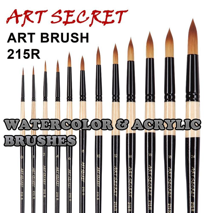 high quality paint art brushes acrylic watercolor brush 215R two tones taklon hair wooden handle #clothing,#shoes,#jewelry,#women,#men,#hats,#watches,#belts,#fashion,#style