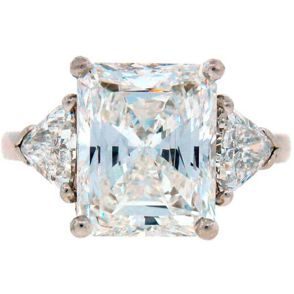 Pre-owned Cartier Diamond Platinum Three-Stone Ring GIA Certificate ($275,000) ❤ liked on Polyvore featuring jewelry, rings, engagement ring, platinum diamond rings, platinum rings, pre owned engagement rings, 3 stone ring and diamond rings