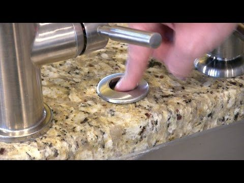How to install a Garbage Disposal Button - InSinkErator SinkTop Switch STS-SO - YouTube